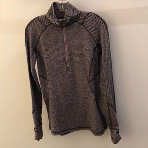 lululemon athletica Tops - Lululemon gray and mauve 1/2 zip pullover, sz 8